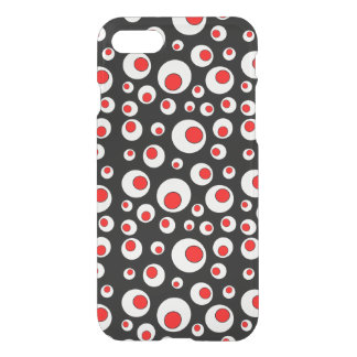Abstract Geometric Cool Red White Circles iPhone 7 Case