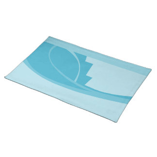 Abstract Geometric Design in Turquoise and Teal. Placemats