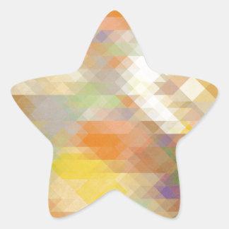 Abstract Geometric Design Star Sticker