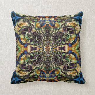 Abstract geometric dream catcher throw pillow