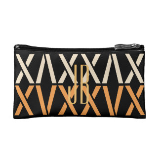 Abstract Geometric Fall Palette Add Initials Bag