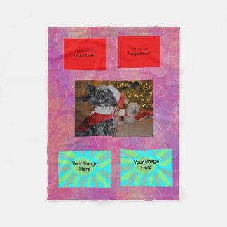 Abstract Geometric Fleece Blanket