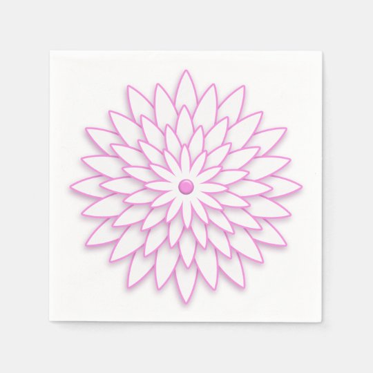 Abstract geometric flower. disposable napkins