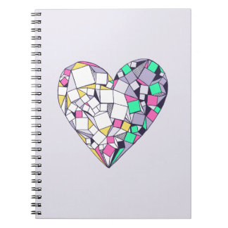 Abstract Geometric Heart Photo Notebook