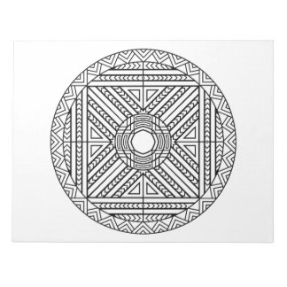 Abstract Geometric Mandala Coloring Book Pad