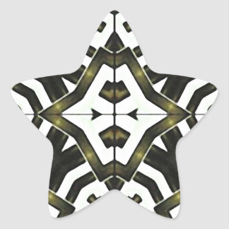 Abstract Geometric Modern Pattern Star Sticker
