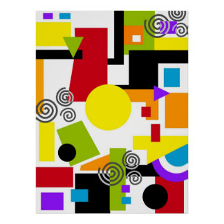 Abstract Geometric Painting Poster