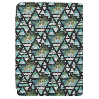 Abstract Geometric Palms & Waves Pattern iPad Air Cover