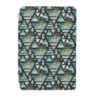 Abstract Geometric Palms & Waves Pattern iPad Mini Cover