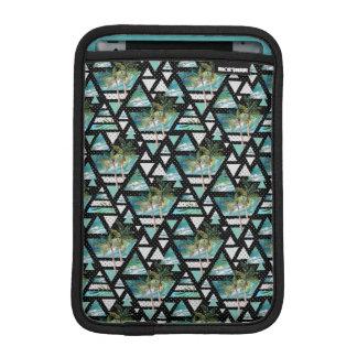 Abstract Geometric Palms & Waves Pattern iPad Mini Sleeve