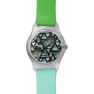 Abstract Geometric Palms & Waves Pattern Watch