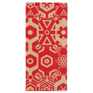 Abstract Geometric Pattern 4Chelsea Wood USB Flash Drive