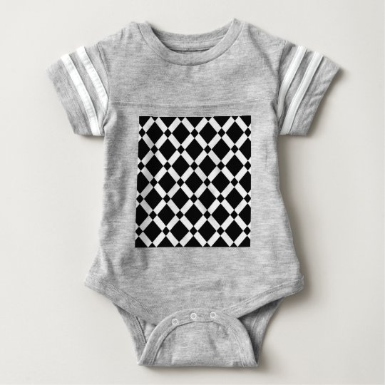Abstract geometric pattern - black and white. baby bodysuit