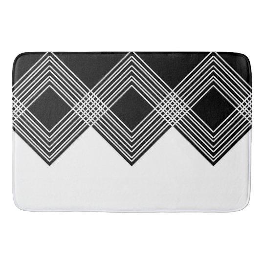 Abstract geometric pattern - black and white. bath mat