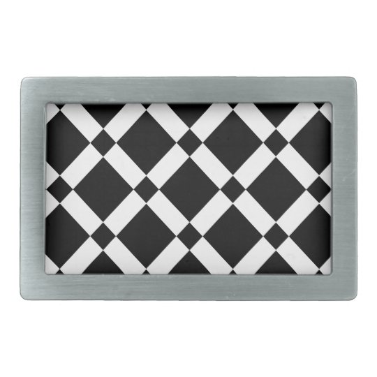 Abstract geometric pattern - black and white. belt buckle