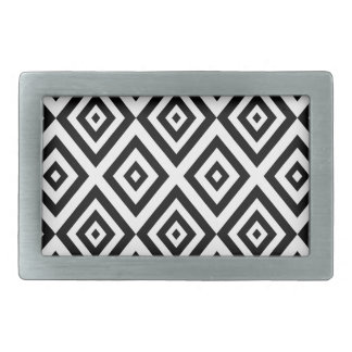 Abstract geometric pattern - black and white. belt buckles