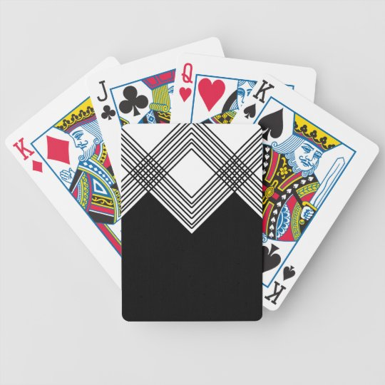 Abstract geometric pattern - black and white. bicycle playing cards