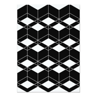 Abstract geometric pattern - black and white. card