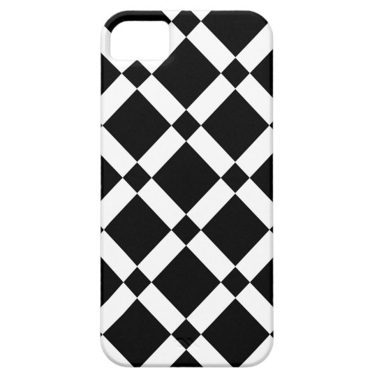 Abstract geometric pattern - black and white. case for the iPhone 5