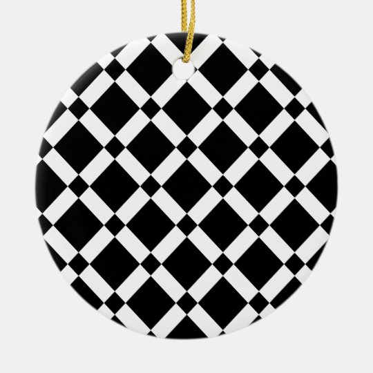 Abstract geometric pattern - black and white. ceramic ornament
