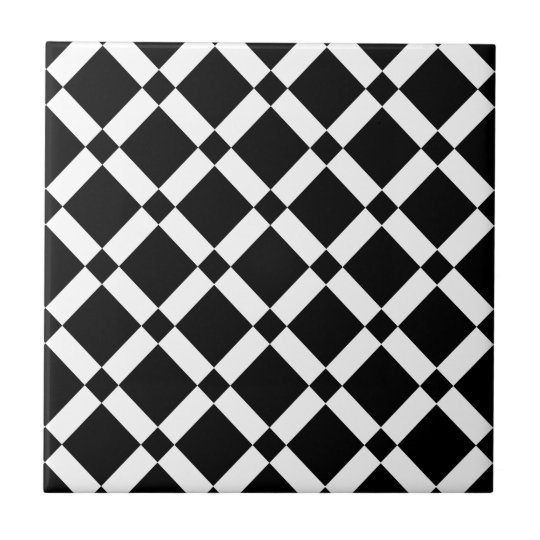 Abstract geometric pattern - black and white. ceramic tile