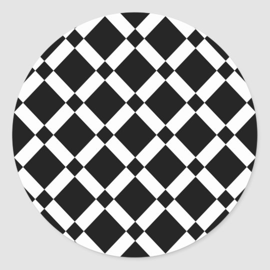 Abstract geometric pattern - black and white. classic round sticker
