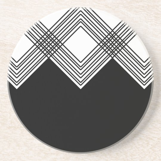 Abstract geometric pattern - black and white. coaster