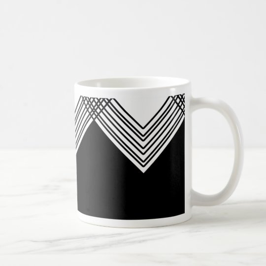 Abstract geometric pattern - black and white. coffee mug