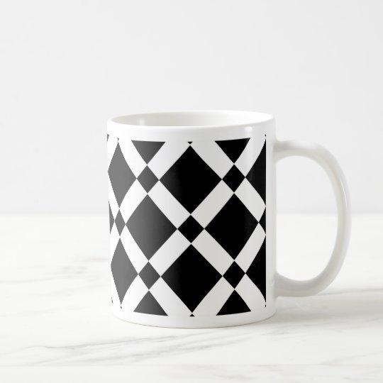 Abstract geometric pattern - black and white. coffee mug