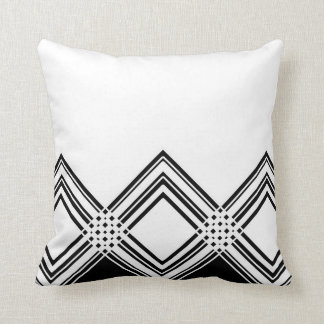 Abstract geometric pattern - black and white. cushion