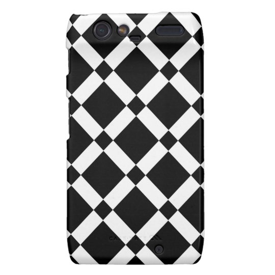 Abstract geometric pattern - black and white. droid RAZR case