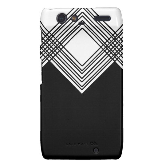 Abstract geometric pattern - black and white. droid RAZR cover