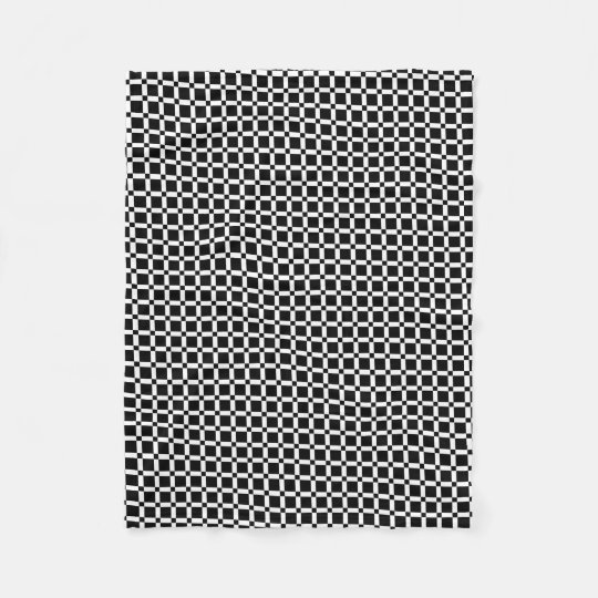 Abstract geometric pattern - black and white. fleece blanket