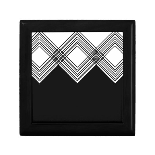 Abstract geometric pattern - black and white. gift box
