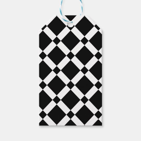Abstract geometric pattern - black and white. gift tags