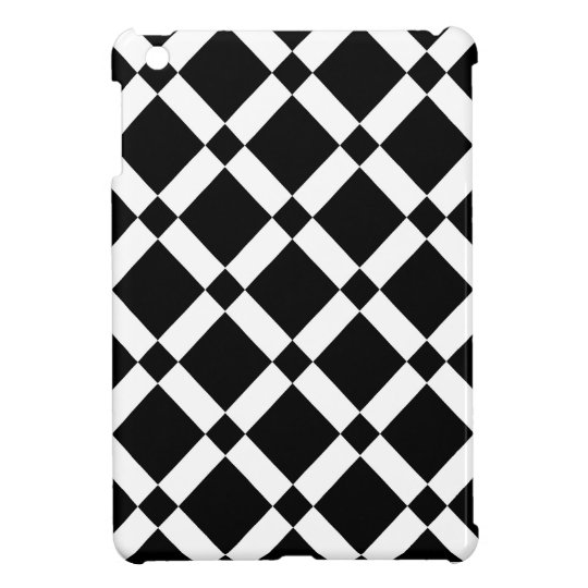 Abstract geometric pattern - black and white. iPad mini case