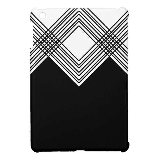 Abstract geometric pattern - black and white. iPad mini cover