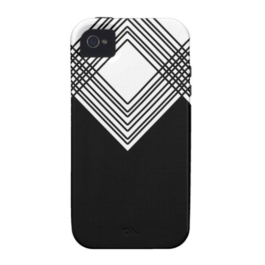 Abstract geometric pattern - black and white. iPhone 4/4S covers