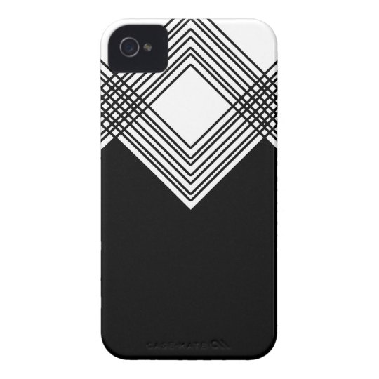 Abstract geometric pattern - black and white. iPhone 4 case