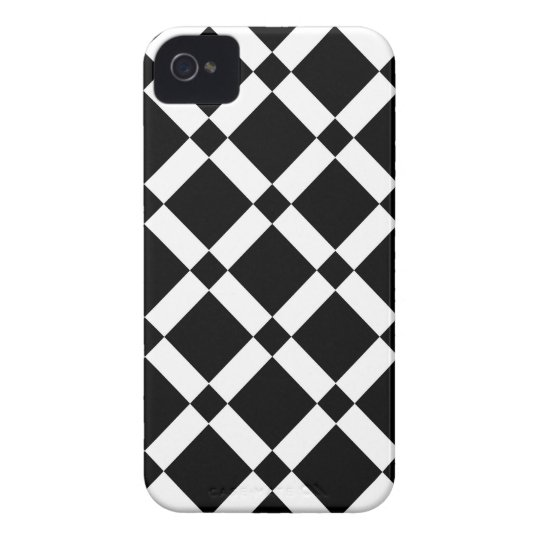Abstract geometric pattern - black and white. iPhone 4 Case-Mate cases