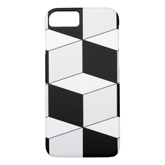 Abstract geometric pattern - black and white. iPhone 8/7 case