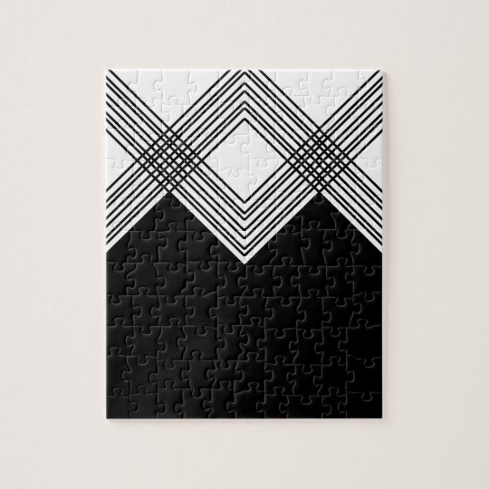 Abstract geometric pattern - black and white. jigsaw puzzle
