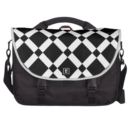 Abstract geometric pattern - black and white. laptop bag