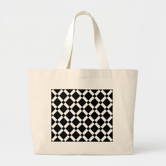 Abstract geometric pattern - black and white. large tote bag