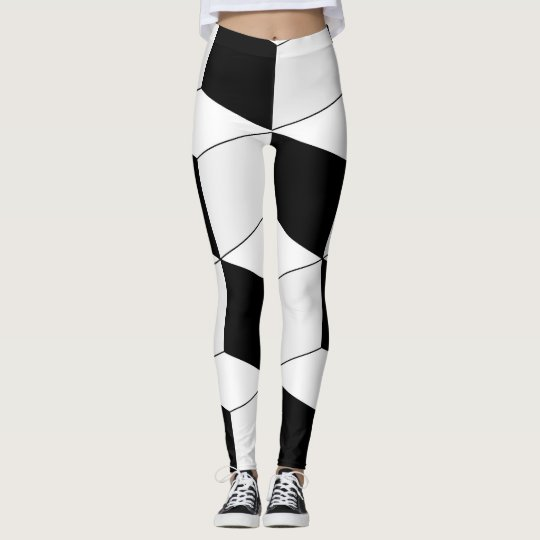 Abstract geometric pattern - black and white. leggings