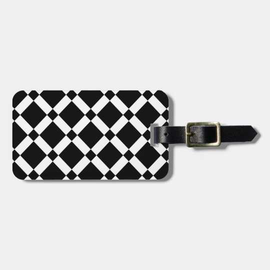 Abstract geometric pattern - black and white. luggage tag