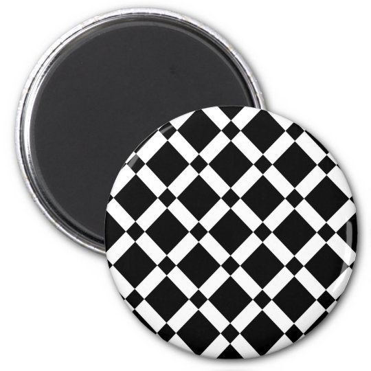 Abstract geometric pattern - black and white. magnet