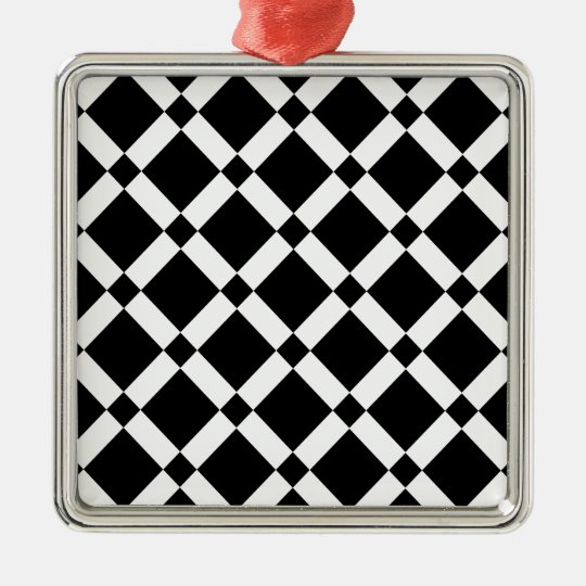 Abstract geometric pattern - black and white. metal ornament