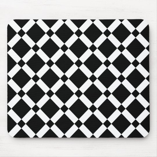 Abstract geometric pattern - black and white. mouse pad