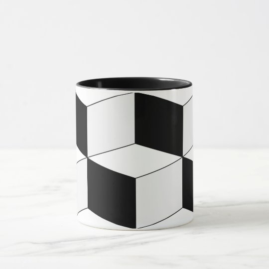 Abstract geometric pattern - black and white. mug